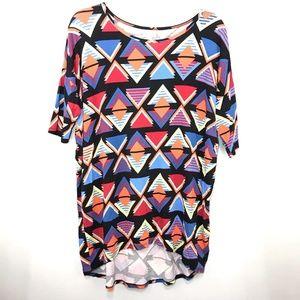 LulaRoe Women's Shirt Triangles Multi Size Small